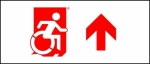 Egress Group Wheelchair Wheelie Man Symbol Accessible Means of Egress Icon Exit Sign 112