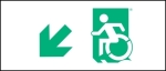 Egress Group Wheelchair Wheelie Man Symbol Accessible Means of Egress Icon Exit Sign 15