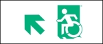 Egress Group Wheelchair Wheelie Man Symbol Accessible Means of Egress Icon Exit Sign 18