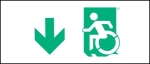 Egress Group Wheelchair Wheelie Man Symbol Accessible Means of Egress Icon Exit Sign 21