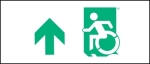 Egress Group Wheelchair Wheelie Man Symbol Accessible Means of Egress Icon Exit Sign 27