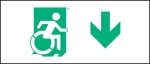 Egress Group Wheelchair Wheelie Man Symbol Accessible Means of Egress Icon Exit Sign 39
