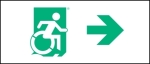 Egress Group Wheelchair Wheelie Man Symbol Accessible Means of Egress Icon Exit Sign 42