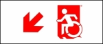 Egress Group Wheelchair Wheelie Man Symbol Accessible Means of Egress Icon Exit Sign 52