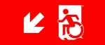 Egress Group Wheelchair Wheelie Man Symbol Accessible Means of Egress Icon Exit Sign 54
