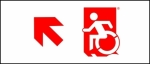 Egress Group Wheelchair Wheelie Man Symbol Accessible Means of Egress Icon Exit Sign 58