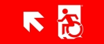 Egress Group Wheelchair Wheelie Man Symbol Accessible Means of Egress Icon Exit Sign 60