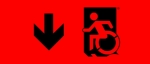 Egress Group Wheelchair Wheelie Man Symbol Accessible Means of Egress Icon Exit Sign 61