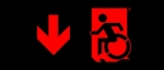 Egress Group Wheelchair Wheelie Man Symbol Accessible Means of Egress Icon Exit Sign 63