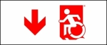 Egress Group Wheelchair Wheelie Man Symbol Accessible Means of Egress Icon Exit Sign 64