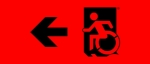 Egress Group Wheelchair Wheelie Man Symbol Accessible Means of Egress Icon Exit Sign 67