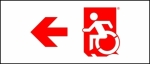 Egress Group Wheelchair Wheelie Man Symbol Accessible Means of Egress Icon Exit Sign 70
