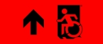 Egress Group Wheelchair Wheelie Man Symbol Accessible Means of Egress Icon Exit Sign 73