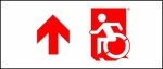 Egress Group Wheelchair Wheelie Man Symbol Accessible Means of Egress Icon Exit Sign 76