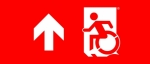 Egress Group Wheelchair Wheelie Man Symbol Accessible Means of Egress Icon Exit Sign 78