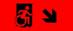 Egress Group Wheelchair Wheelie Man Symbol Accessible Means of Egress Icon Exit Sign 85