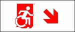 Egress Group Wheelchair Wheelie Man Symbol Accessible Means of Egress Icon Exit Sign 88