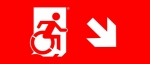Egress Group Wheelchair Wheelie Man Symbol Accessible Means of Egress Icon Exit Sign 90