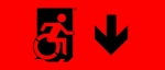 Egress Group Wheelchair Wheelie Man Symbol Accessible Means of Egress Icon Exit Sign 97
