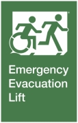 Emergency Evacuation Lift Right Hand Egress Group Wheelchair Accessible Means of Egress Icon