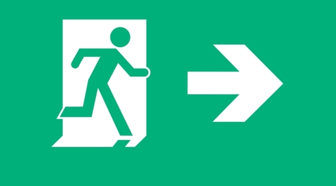 Running Man Exit Sign Egress Group