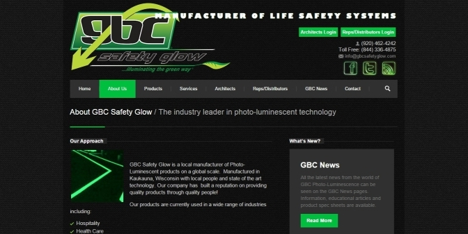 GBC Safety Glow announced as supplier of Photo-Luminescent Accessible Exit Signs