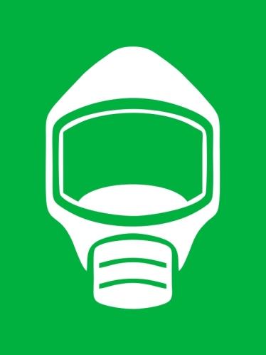 Emergency Escape Mask Smoke Hood Icon