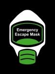 Emergency Escape Mask Sign, © Egress Group 1