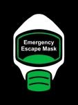 Emergency Escape Mask Sign, © Egress Group 10