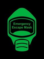 Emergency Escape Mask Sign, © Egress Group 11