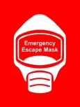 Emergency Escape Mask Sign, © Egress Group 12
