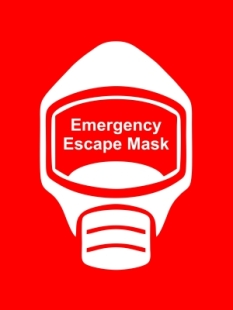 Emergency Escape Mask Sign, © Egress Group 12