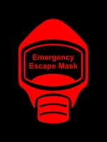 Emergency Escape Mask Sign, © Egress Group 13