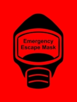 Emergency Escape Mask Sign, © Egress Group 14