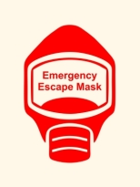 Emergency Escape Mask Sign, © Egress Group 15