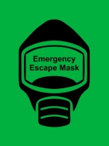 Emergency Escape Mask Sign, © Egress Group 16