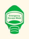 Emergency Escape Mask Sign, © Egress Group 17