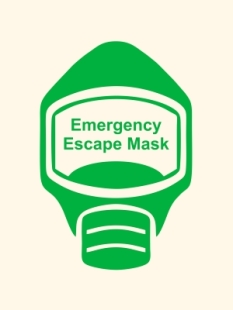 Emergency Escape Mask Sign, © Egress Group 17