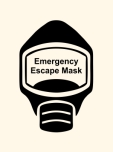 Emergency Escape Mask Sign, © Egress Group 18