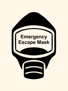 Emergency Escape Mask Sign, © Egress Group 18