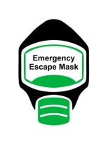 Emergency Escape Mask Sign, © Egress Group 3