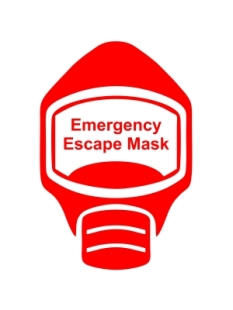 Emergency Escape Mask Sign, © Egress Group 4