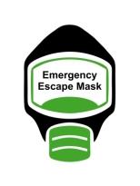 Emergency Escape Mask Sign, © Egress Group 5
