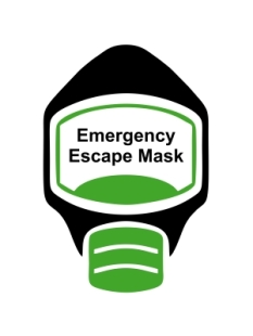 Emergency Escape Mask Sign, © Egress Group 5