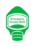 Emergency Escape Mask Sign, © Egress Group 6