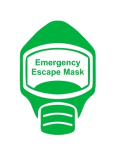 Emergency Escape Mask Sign, © Egress Group 6