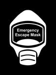 Emergency Escape Mask Sign, © Egress Group 7