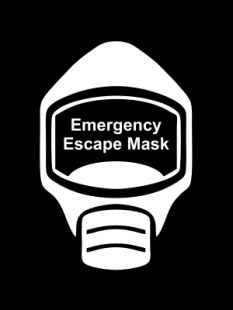 Emergency Escape Mask Sign, © Egress Group 7