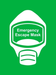 Emergency Escape Mask Sign, © Egress Group 8