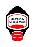 Emergency Escape Mask Sign, © Egress Group 9